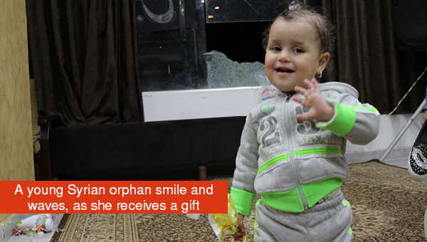 Orphan smiling